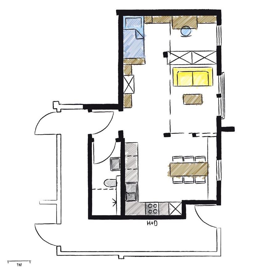 Wohnwerk41–Apartment6-Schnitt