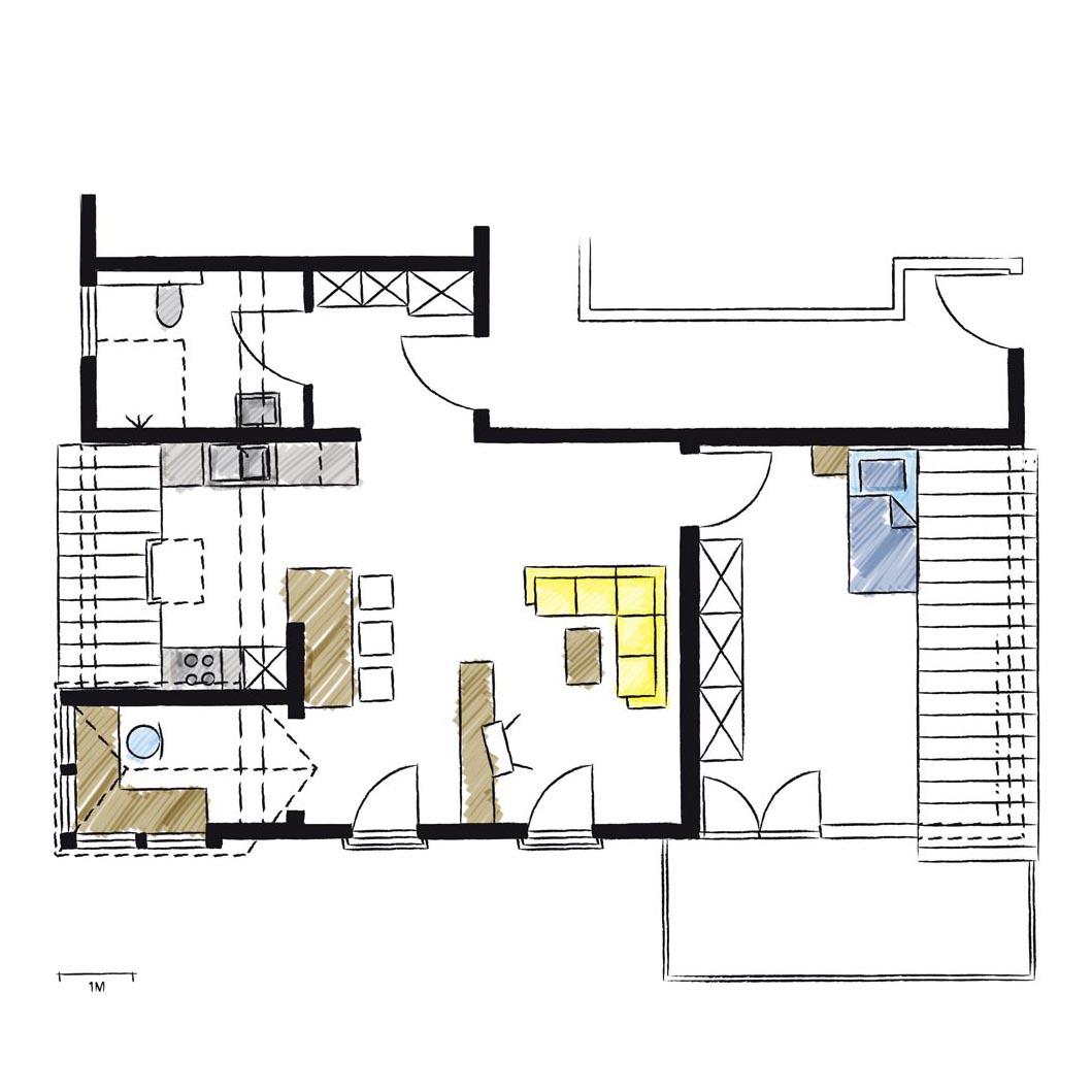 Wohnwerk41-Apartment7-Schnitt