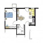 Wohnwerk41 – Grundriss Apartment Nr.1
