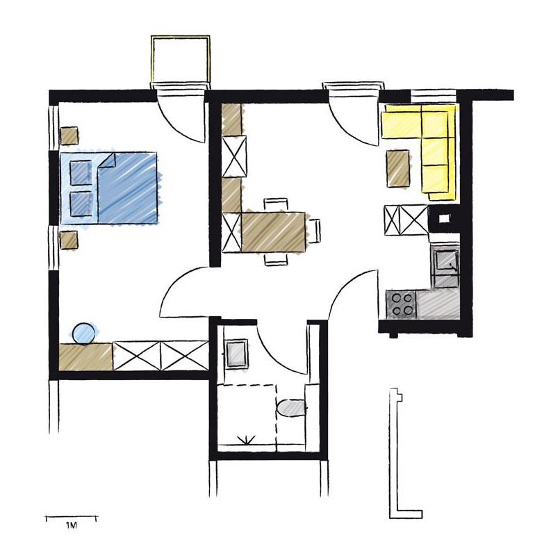 Wohnwerk41-Apartment1-Schnitt
