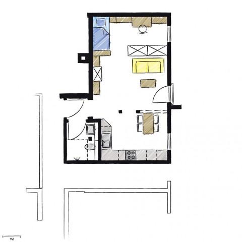 Wohnwerk41-Apartment2-Schnitt