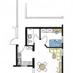 Wohnwerk41 – Apartment3 - Grundriss