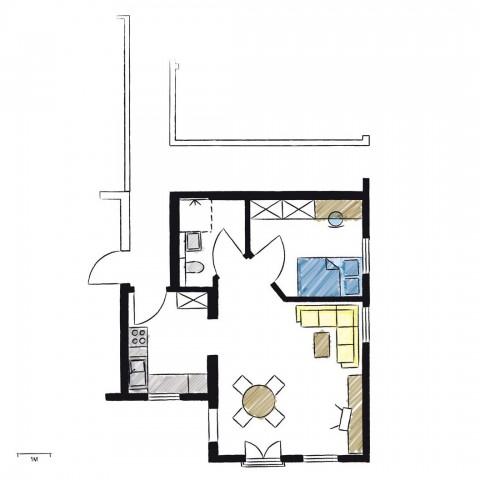 Wohnwerk41-Apartment3-Schnitt
