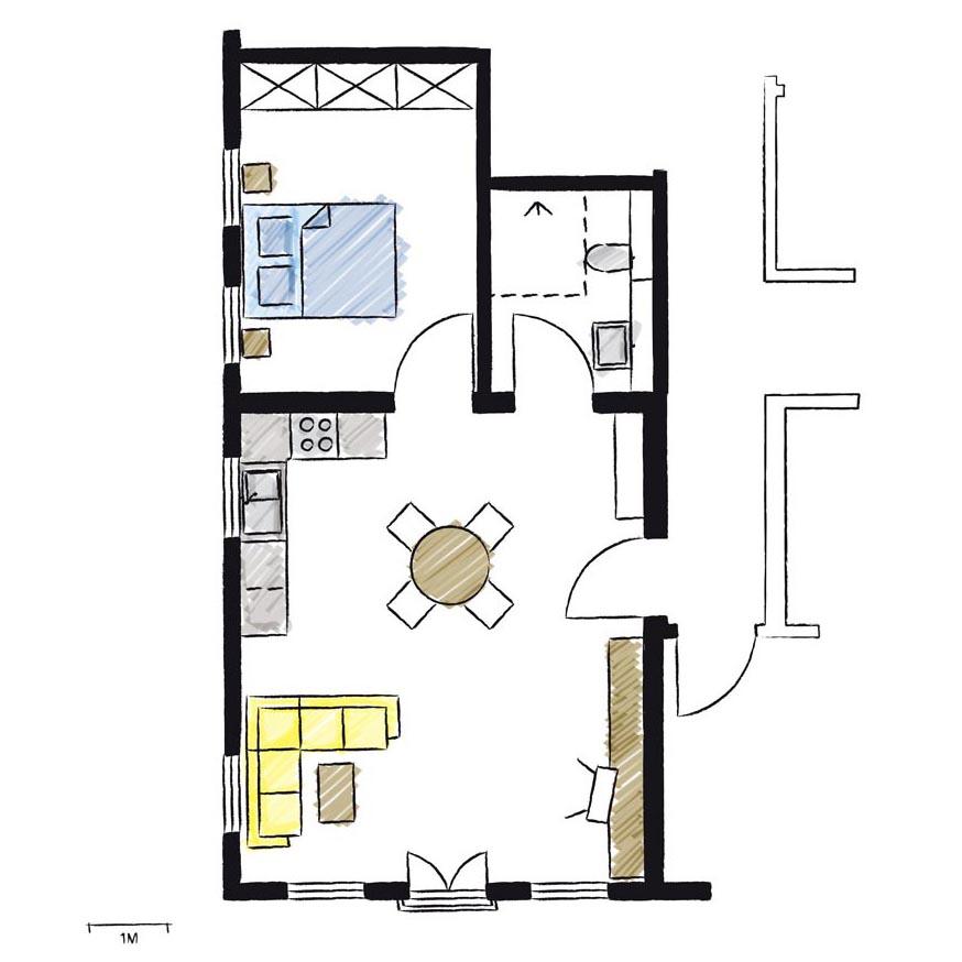 Wohnwerk41-Apartment4-Schnitt