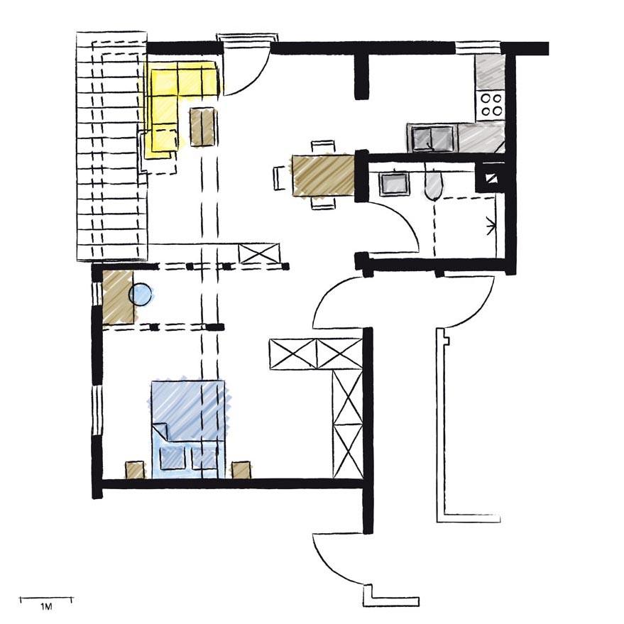 Wohnwerk41-Apartment5-Schnitt